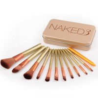 Професионални четки за грим в метална кутия Naked 3