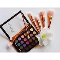 Палитра сенки за очи 24 цвята Ushas - лилаво комплект с 6 четки