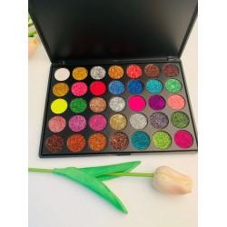 Палитра сенки за очи  с 35 бляскави цвята