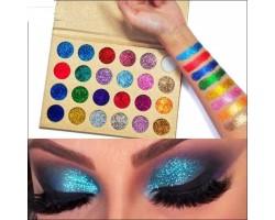 Глитер- брокатени сенки за очи CLEOF - 24 уникални цвята