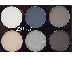 Палитра 6 цвята ZD natural