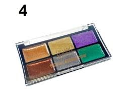 6 цвята палитра брокат сенки за очи USHAS