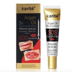 Серум за уголемяване  на устни с арганово масло, колаген и хиалурон
