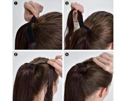 Къдрава опашка от изкуствена коса #2