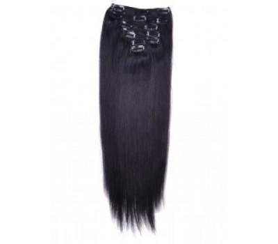 100% естествена коса 7 реда -160 лв черно 1