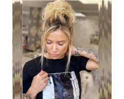 Небрежен кок от коса- Супер качество