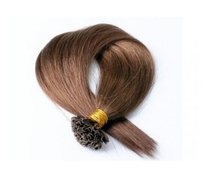 Кичури от естествена коса кафява - 6 - 57 см - 50 гр - 50 бр