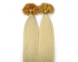 Кичури от естествена коса руси  57 см - 50 гр 50 бр