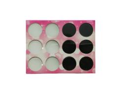 Комплект 6 бр. бял и 6 бр.  черен акрил