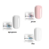 Акрилен прах  3 бр  - розов, прозрачен и бял