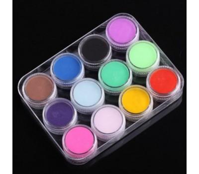 Комплект цветни акрили 12 цвята