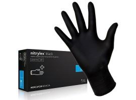 Черни ръкавици нитрил пакет 100 бр