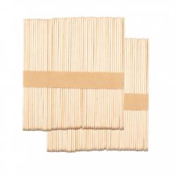 Дървени шпатули за кола маска - 100 бр. - 114 х 10 х 2 мм