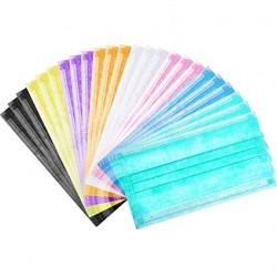 Трислойни санитарни цветни маски за еднократна употреба