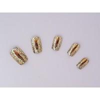 Изкуствени нокти 24 бр - Течно злато