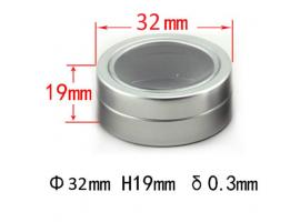 Алуминиева кутийка с прозрачен капак