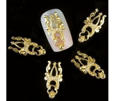 Декорация бижута за нокти  38 Коронки златни