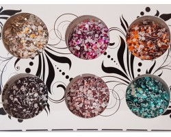 Декорация двуцветни конфети 6 бр
