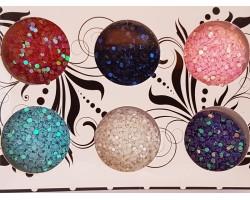 Декорация кръгчета с холограмен ефект 6 бр
