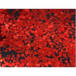 Конфети едноцветни кръгчета Red