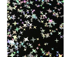 Конфети модерни звезди в сребърно
