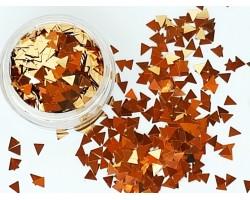 Конфети 12 триъгълни елементи в златно