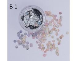 Конфети В1 Холограмни сребърни конфети - 0,4мм
