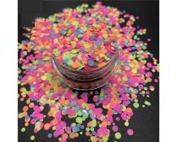 Конфети неонови кръгчета