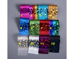 10 бр фолио за декорация серия  Счупено стъкло