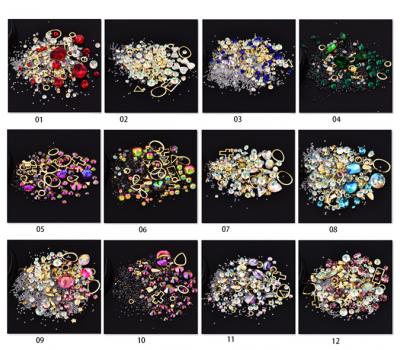 Микс кристални камъни и декорации за маникюра