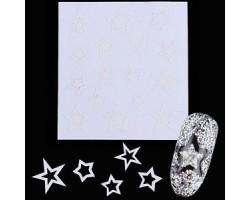Ограничителни ленти за френски маникюр-звезди