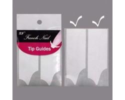 Ограничителни ленти за френски маникюр - вълнообразни