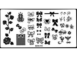 Печат - щампа  пластина за нокти BCN16