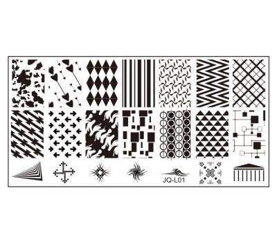 Печат - щампа  пластина за нокти JQ-L03