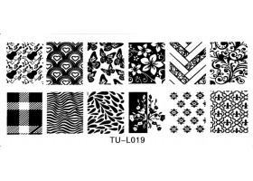 Печат - щампа  пластина за нокти TU-L019