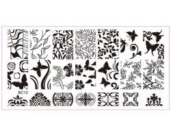 Печат - щампа  пластина за нокти 12