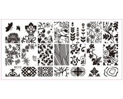 Печат - щампа  пластина за нокти 13