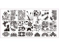 Печат - щампа  пластина за нокти 14