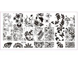 Печат - щампа  пластина за нокти 16