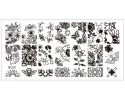 Печат - щампа  пластина за нокти 20