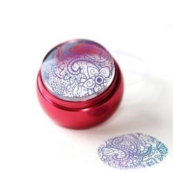Розов лукс печат за нокти