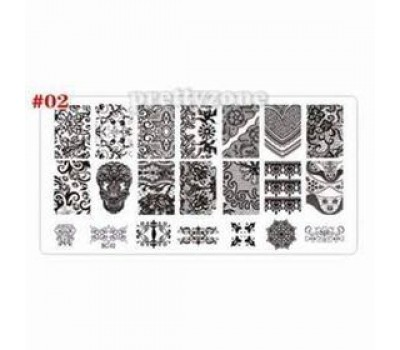 Печат - щампа  пластина за нокти  02 Соната