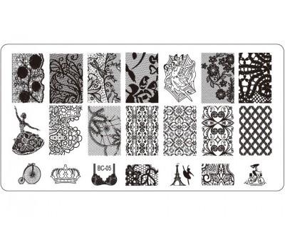 Печат - щампа  пластина за нокти  05 Париж
