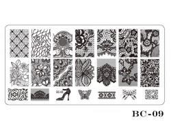Печат - щампа  пластина за нокти  09 Дама