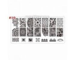 Печат - щампа  пластина за нокти  10 Хипноза
