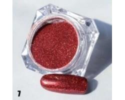 Червена пудра пигмент с холограмен ефект