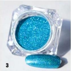Синя пудра пигмент с холограмен ефект