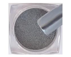 Метален - огледален пигмент за нокти Сив