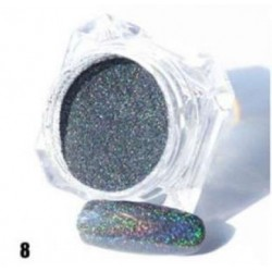 Сива пудра пигмент с холограмен ефект