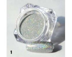 Сребърна пудра пигмент с холограмен ефект
